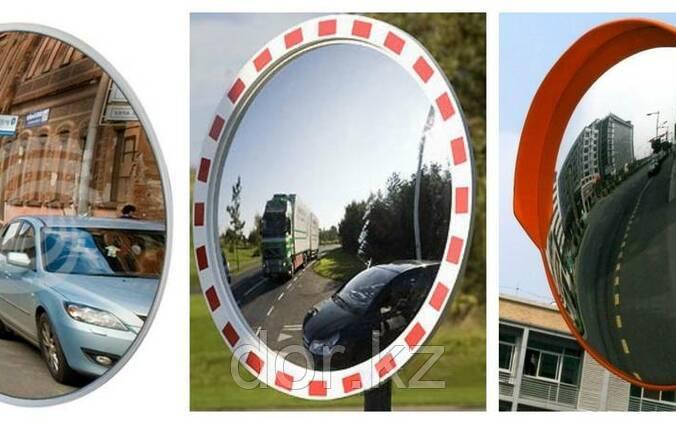 Сферическое зеркало дорожное со световозвращающей окантовкой 600мм