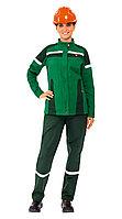Куртка ЛЕДИ ТЕХНОЛОГ, цв.зеленый с темно-зеленым