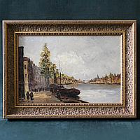 «Городской пейзаж с каналом».