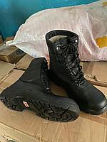 Сапоги зимние черные на шнурках