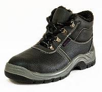 Защитные ботинки из кожи с металлическим носком, цвет черный