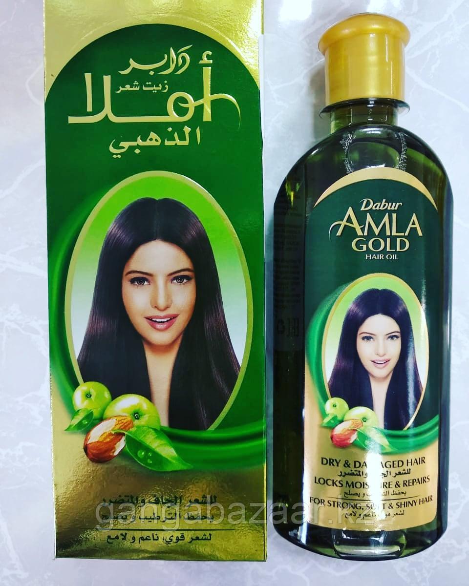 Масло для волос Амла Голд Дабур для увлажнения и восстановления волос (Amla Gold Hair oil Dabur) 200 мл