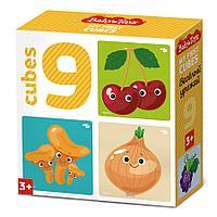 Кубики «Веселый урожай» (9 шт.), фото 1