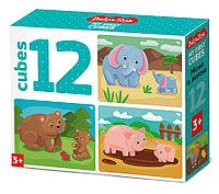 Кубики «Мама и малыш» (12 шт.), фото 1