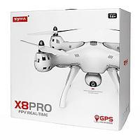 Дрон радиоуправляемый квадрокоптер Syma X8 Pro GPS с 720P камера авто возврат WiFi FPV белый