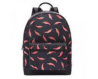 Рюкзак подростковый для девочки Перцы, черный