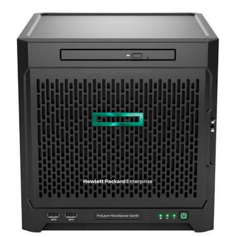 Сервер HPE Micro Gen10, 1x AMD X3216 2C 1.6-3.0GHz, 1x8Gb-U, SATA ZM (RAID 0,1,10) noHDD (4 LFF 3.5'