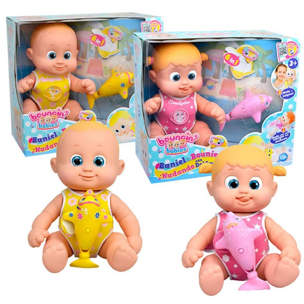 Игрушка плавающая с дельфином Bouncin' Babies Кукла (35 см)
