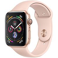 Apple Watch Series 4 44mm Gold Aluminium Case with Pink Sport Band, фото 1
