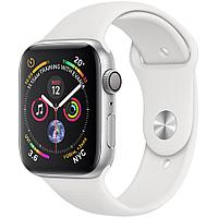Apple Watch Series 4 44mm Silver Aluminium Case with White Band, фото 1