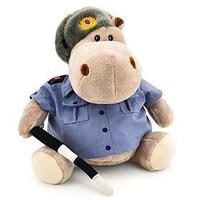 Мягкая игрушка 'Бегемот Полицейский', 20 см