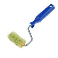Мини-валик TUNDRA, полиакрил, 60 мм, ручка d6 мм, D15 мм, ворс 12 мм, зеленый