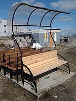 Скамейки с навесом со спинкой