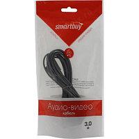 Кабель-удлинитель Smartbuy 3.5 Jack (M) - 3.5 Jack (F), стерео, аудио, 3,0 м, в пакете