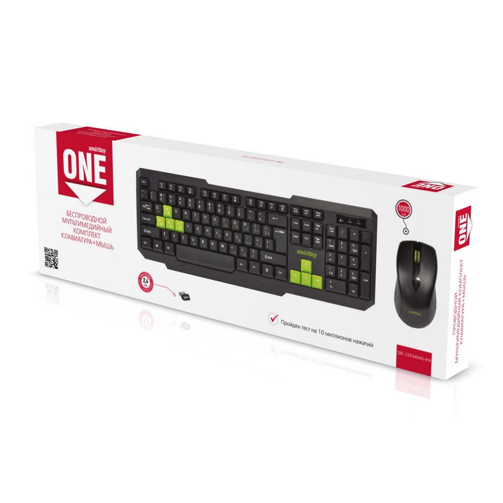 Мультимедийный комплект клавиатура+мышь Smartbuy ONE SBC-230346AG