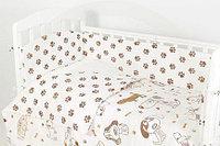 Комплект белья в кроватку Фантазия 6 предметов лапки бежевый, фото 1