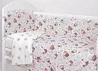 Комплект белья в кроватку Фантазия 6 предметов пироженки кофе