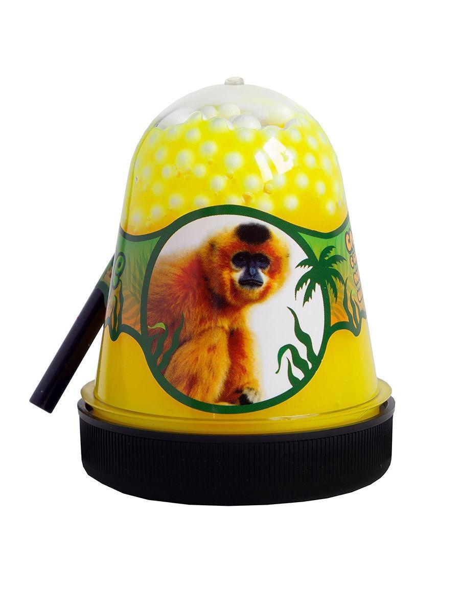 Жвачка для рук Jungle Slime Слайм Обезьянка с пенопластовыми белыми шариками, 130 гр