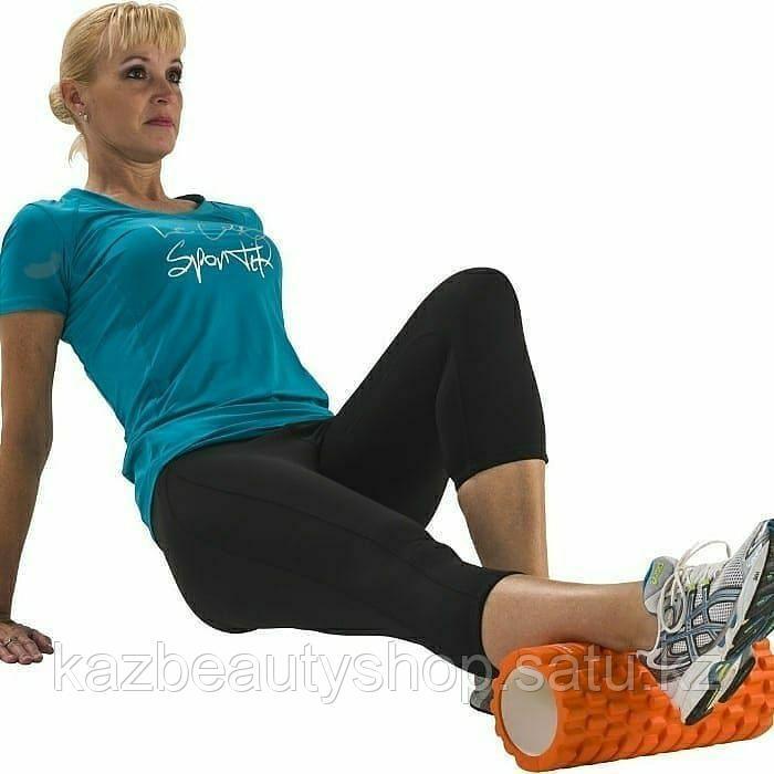 Массажный ролл для фитнеса и йоги (foam roller) - фото 4