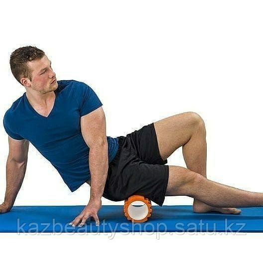 Массажный ролл для фитнеса и йоги (foam roller) - фото 2
