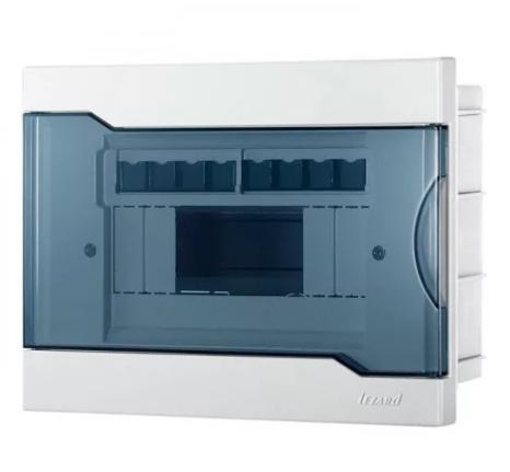 Бокс с прозрачной крышкой ЩРВ-П-8 для внт уст-ки 8-модульных устройств 730-1000-008
