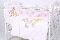 Комплект белья в кроватку Rant Лошадка 6 предметов розовый, фото 1