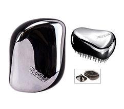 Расческа для волос хромированная Tangle Teezer Compact Styler (Хром-синий), фото 2