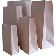 Пакеты бум. крафт (120+80)х335мм 2кг коричн. 70г/м с печ. в шоу боксе, 80 шт