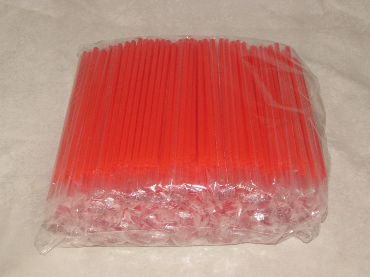 Трубочки д/коктейля прямые в инд. упаковке, d 8мм, 200мм, красные, ПП, 500 шт