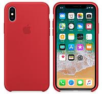 Силиконовый чехол для iPhone X/ iPhone 10 (красный)