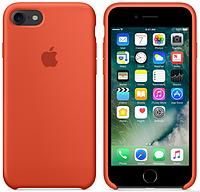 Cиликоновый чехол для iPhone 8 (оранжевый)
