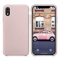 Силиконовый чехол для Apple iPhone XR (розовый песок)