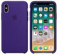 Силиконовый чехол для Apple iPhone XS Max (фиолетовый)