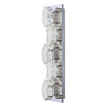 Светильник SILURUS 1x15Вт LED хром 59x12x10см