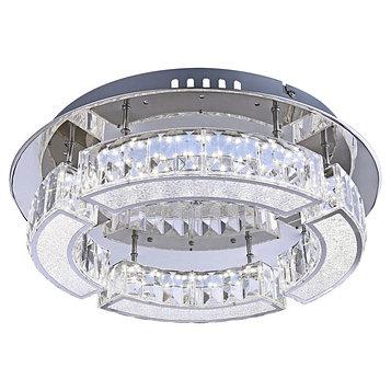 Люстра потолочная SILURUS 1x20Вт LED хром 37x37x10см