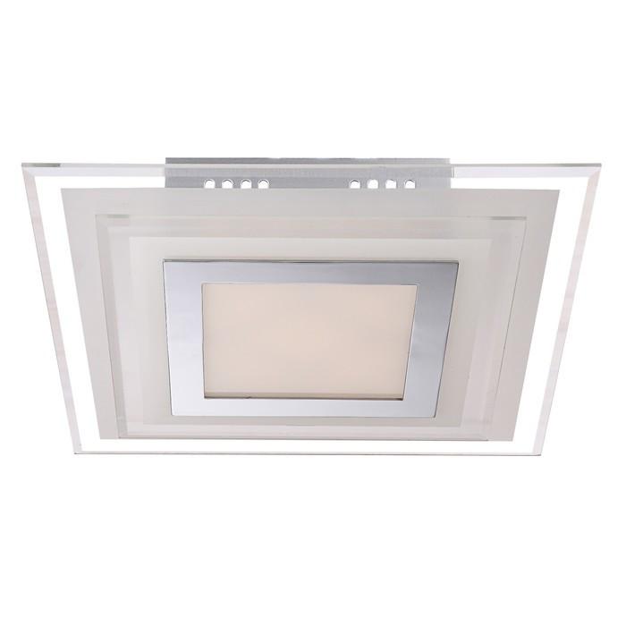 Светильник AMOS 1x9Вт LED хром 30x30x6,5см