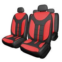 Чехлы сиденья Skyway Drive-2, полиэстер, 11 предметов, черно-красный