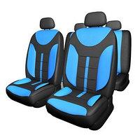 Чехлы сиденья Skyway Drive-2, полиэстер, 11 предметов, черно-синий