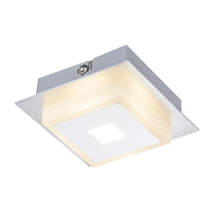 Светильник QUADRALLA 1x5Вт LED хром 10x10x4см