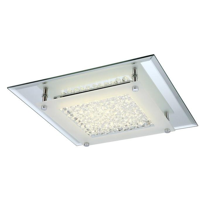 Люстра потолочная LIANA 1x17Вт LED хром 36x36x6,5см