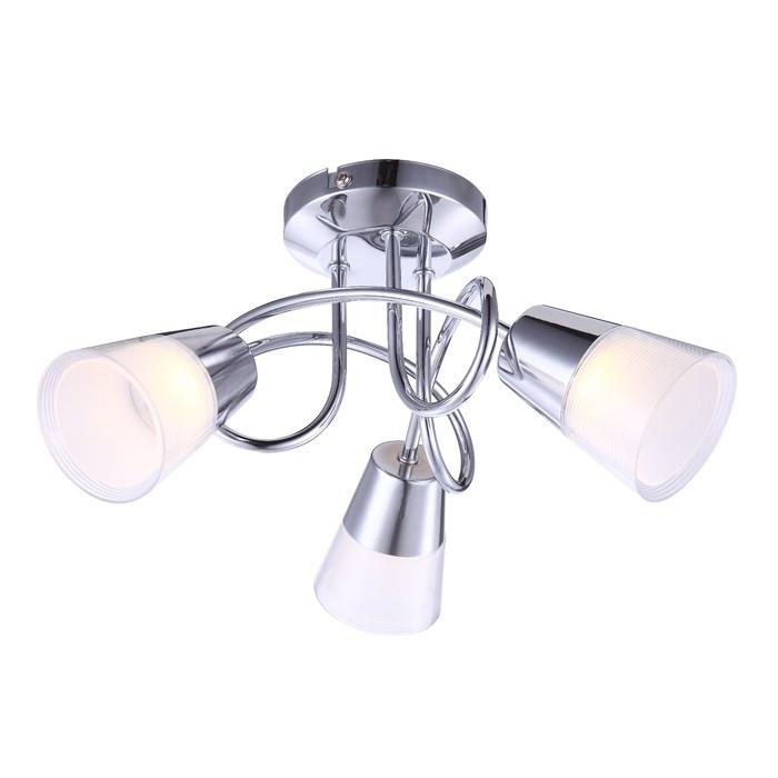 Люстра потолочная TIEKA 3x3Вт LED хром 33x33x18см