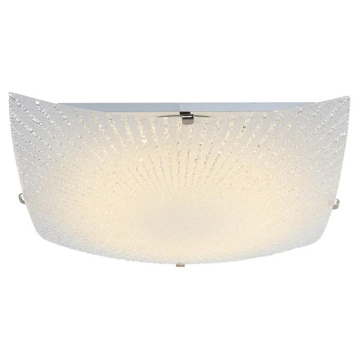 Светильник VANILLA 1x12Вт LED матовый никель 30x30x8,5см