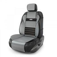Накидка на сиденье ортопедическая Multi Comfort, 6 упоров, 3 предмета, экокожа, чёрный/темно-серый