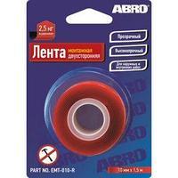 Лента клейкая ABRO двухсторонняя монтажная, 10 мм х 1,50 м, EMT-010-R (комплект из 10 шт.)