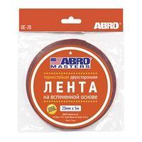 Лента клейкая ABRO двухсторонняя белая, 20 мм х 5 м OE-20-R (комплект из 17 шт.)