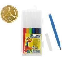 Фломастеры 6 цветов 'Веселые игрушки', в пенале, вентилируемый колпачок, длина линии письма более 400 м,