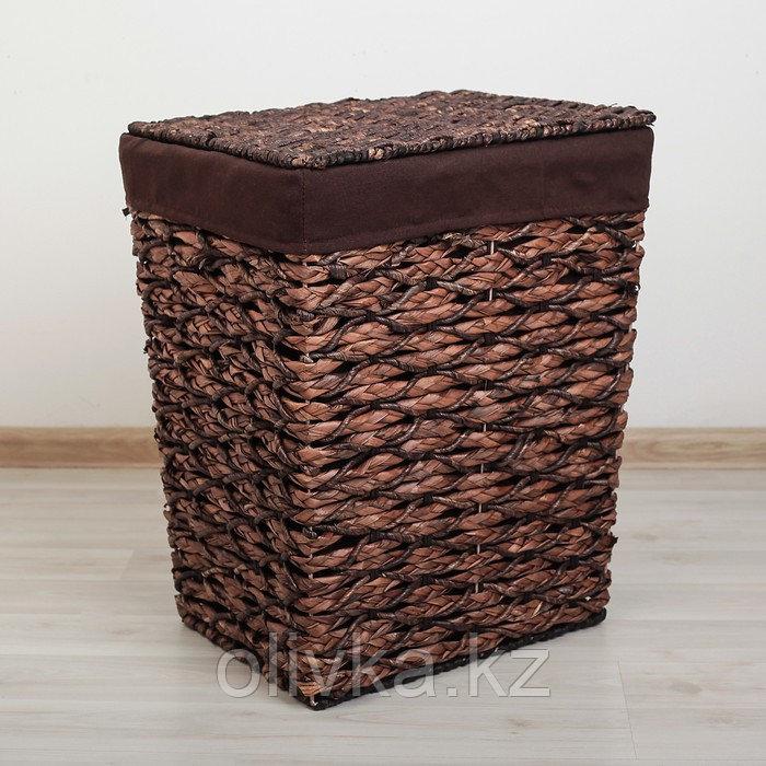 Корзина универсальная плетёная «Классика», 39×31×48 см, средняя, цвет коричневый