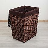 Корзина универсальная плетёная Доляна «Классика», 45×36×55 см, большая, цвет коричневый, фото 2