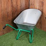 Тачка садово-строительная, одноколёсная: груз/п 160 кг, объём 90 л, пневмоколесо 360 мм, кузов 0,7 мм, фото 2
