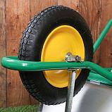 Тачка садово-строительная, одноколёсная: груз/п 160 кг, объём 90 л, пневмоколесо 360 мм, кузов 0,7 мм, фото 5